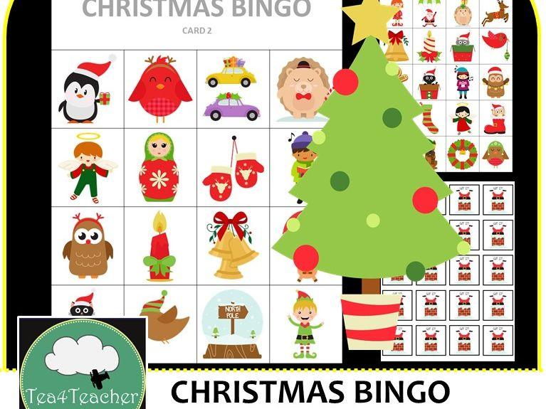 Christmas Bingo.Christmas Bingo Cute Christmas Themed Bingo Game For Preschool K 2 Kids