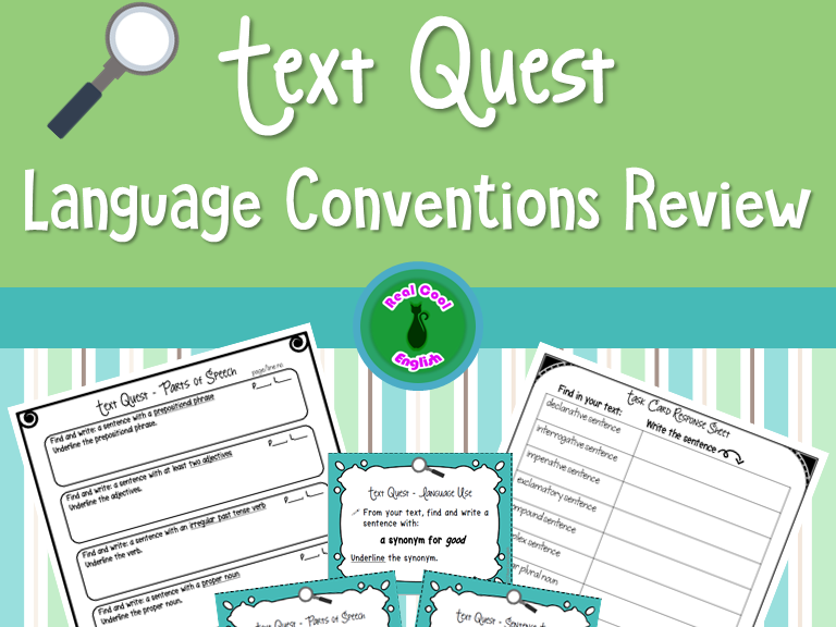 Language Conventions Text Scavenger Hunt