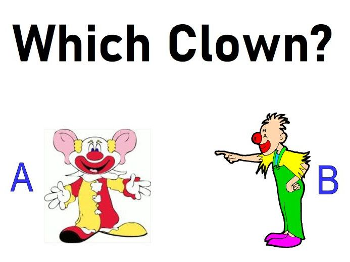 Physical Appearances/Describing People - Which Clown - Grades K-1 - PowerPoint