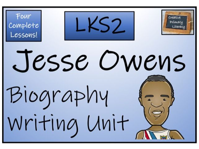 LKS2 History - Jesse Owens Biography Writing Activity