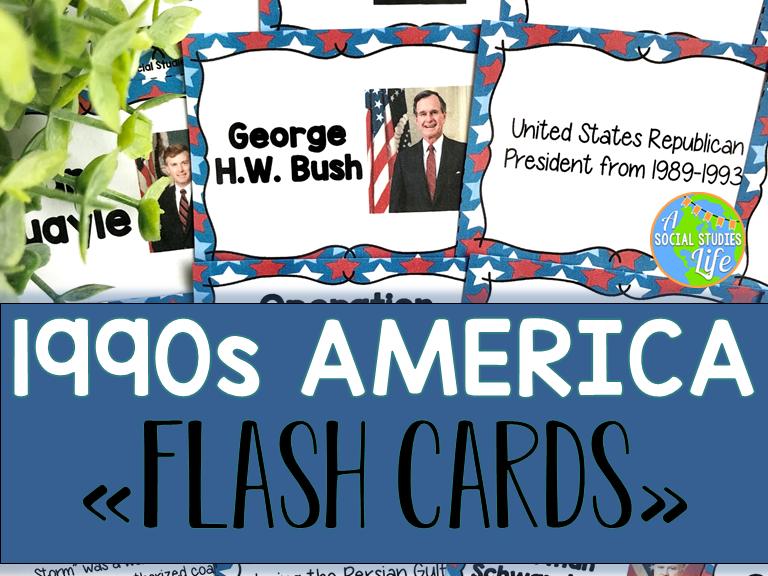 1990s America Flash Cards