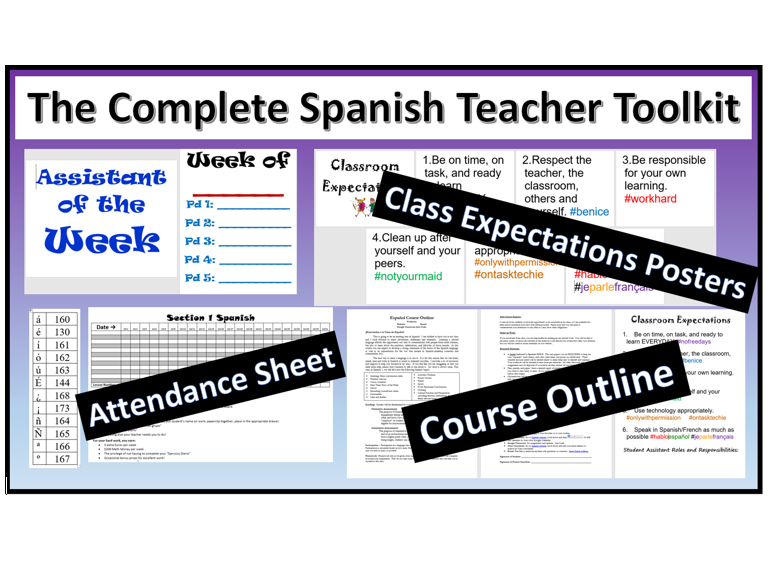 The Complete Spanish Teacher Toolkit!