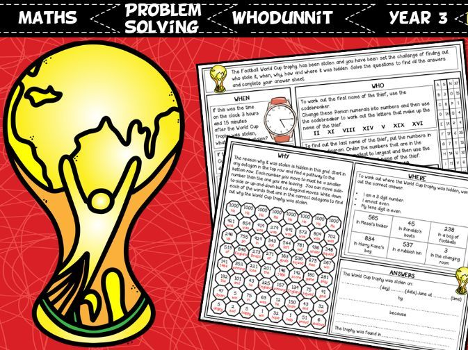 Football World Cup 2018 Whodunnit Activity Year 3
