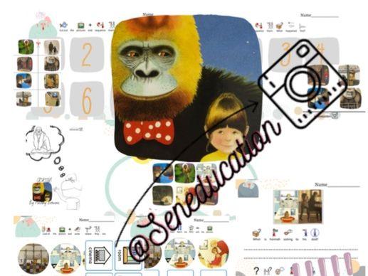 Gorilla by Antony Brown- worksheet-Printable activities-General.E &Special needs