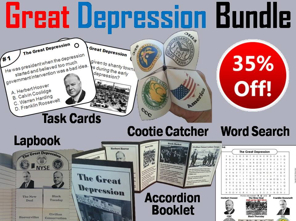 The Great Depression Task Cards and Activities Bundle by ...