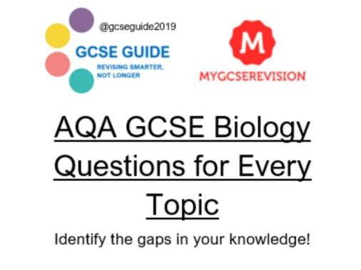 AQA Biology Every Topic Question 9-1 style GCSE