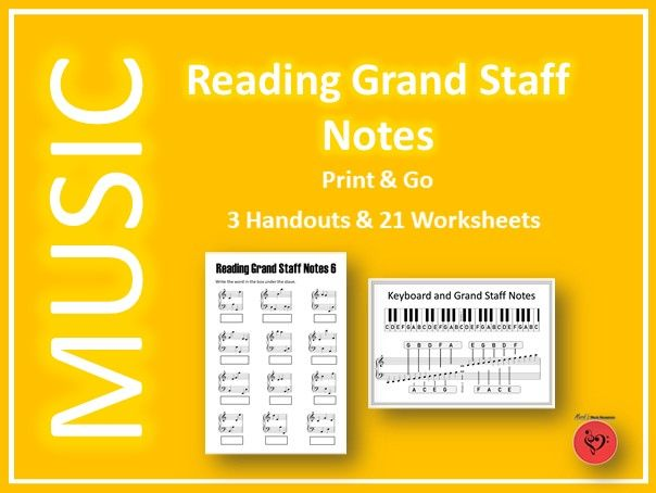 Reading Grand Staff Notes – 21 Printable and Digital Worksheets