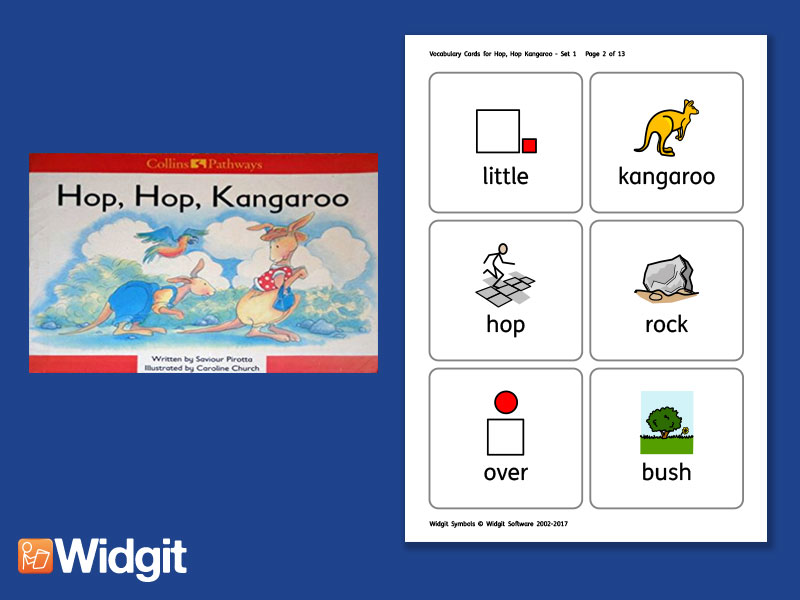 Hop, Hop Kangaroo  - Big Book Flashcards with Widgit Symbols