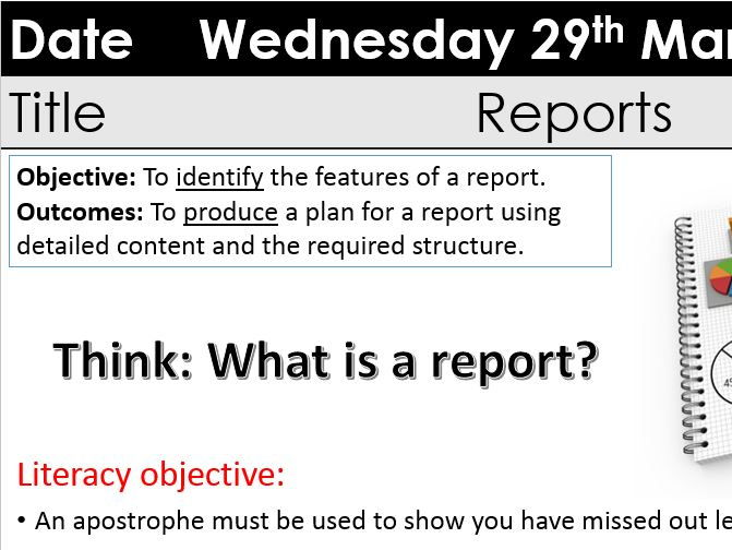 Features of Reports Y9 KS3 Transactional Writing