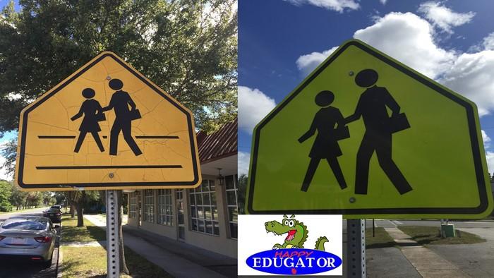 Dollar Stock Photos - School Crossing Signs