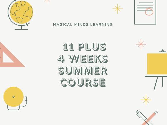 11 Plus Summer 4 Week Course Plan