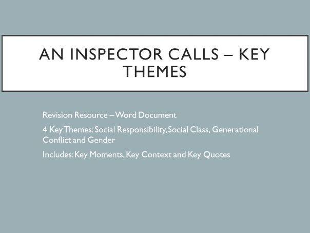 An Inspector Calls (AIC) - Key Themes