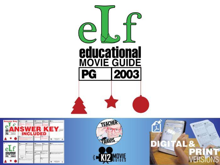 Elf Movie Viewing Guide | Questions | Worksheet (PG - 2003)