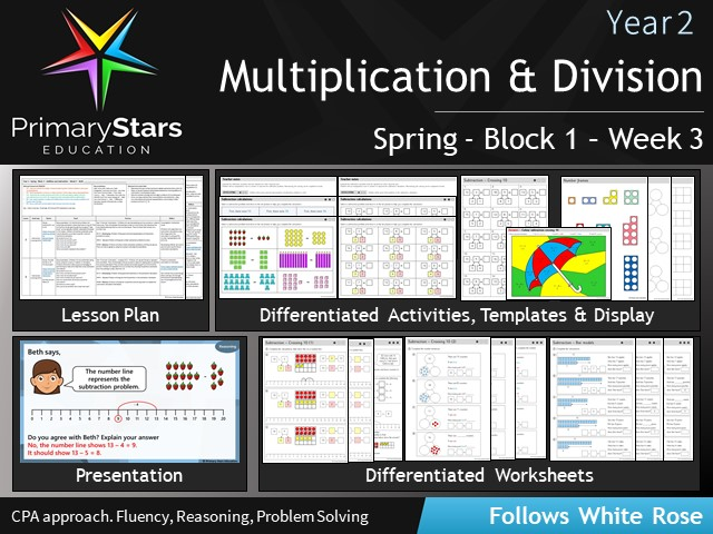 YEAR 1 - Addition - White Rose - WEEK 3 - Block 1 - Spring- Differentiated Planning & Resources