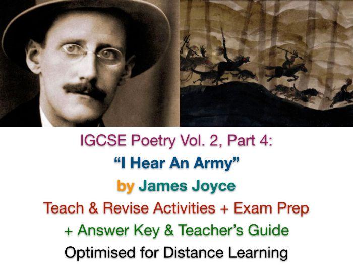 """""""I Hear an Army"""" (James Joyce) - IGCSE NO PREP TEACH + REVISE + ANSWERS"""