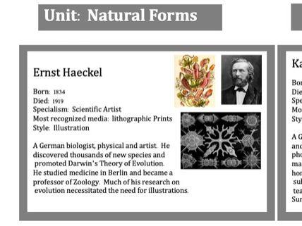 GCSE Art - Natural Forms Artists Knowledge Organiser
