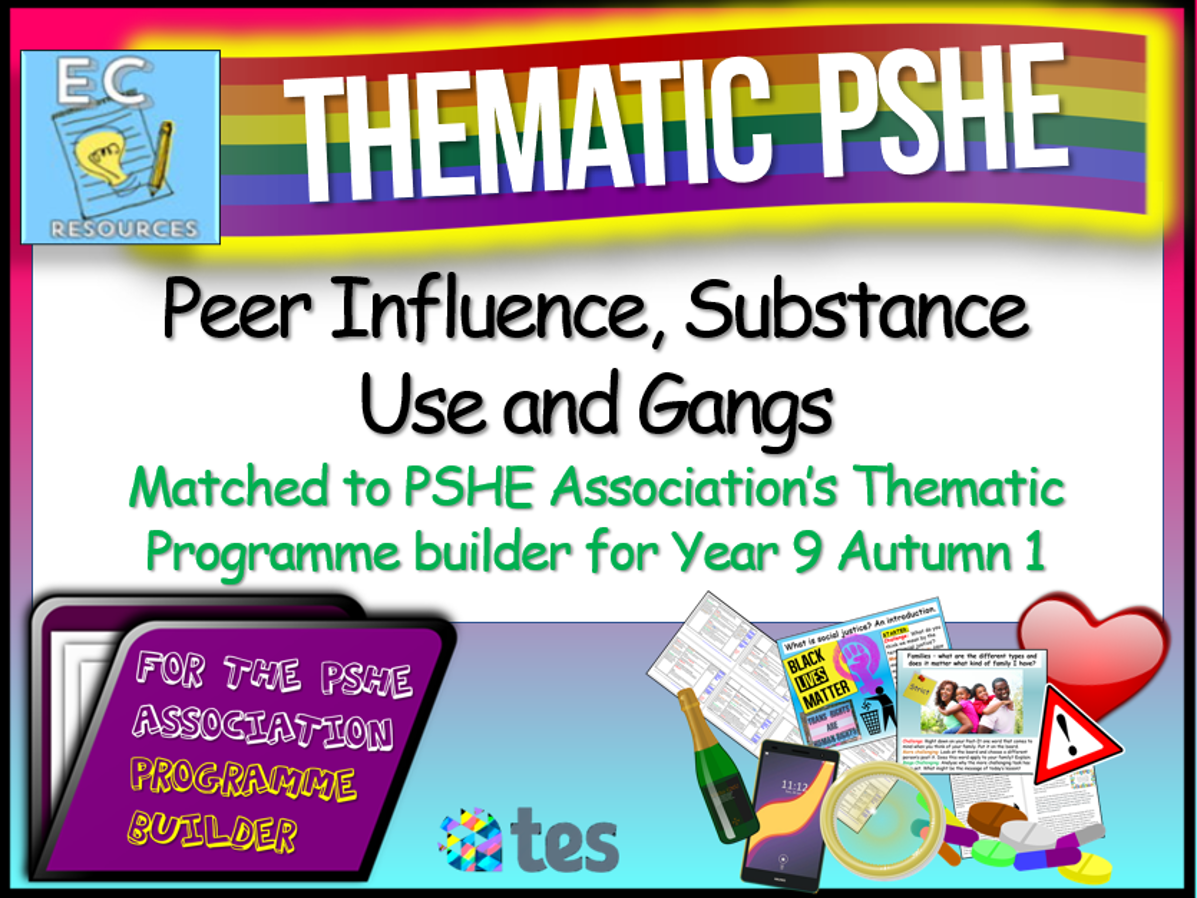 Peer Influence, Substance Use and Gangs Thematic PSHE