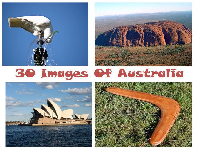 30 Hour ESL Elementary Speaking Exercises for the Australian Topic, 31 Teaching Ideas And 30 Photos