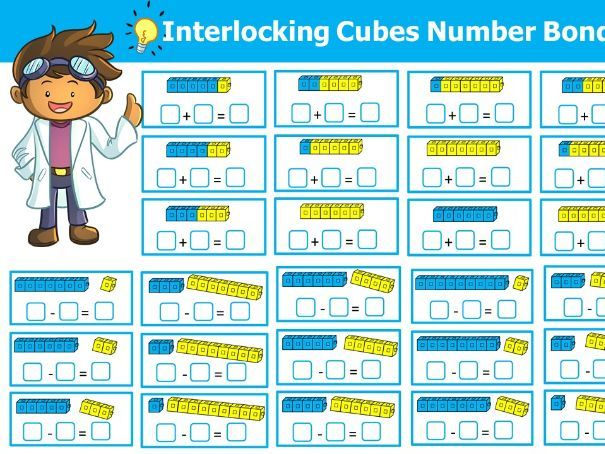 Interlocking Cubes Number Bonds to Ten (Addition, Subtraction)