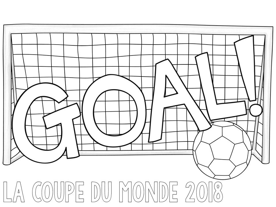 French Colouring Sheets: World Cup