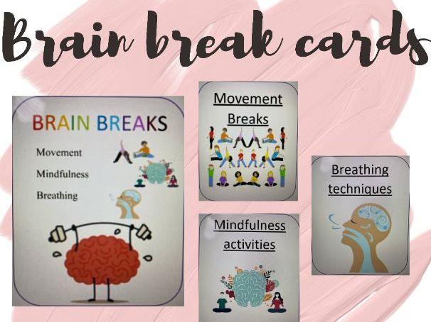Brain break cards / Mindfulness