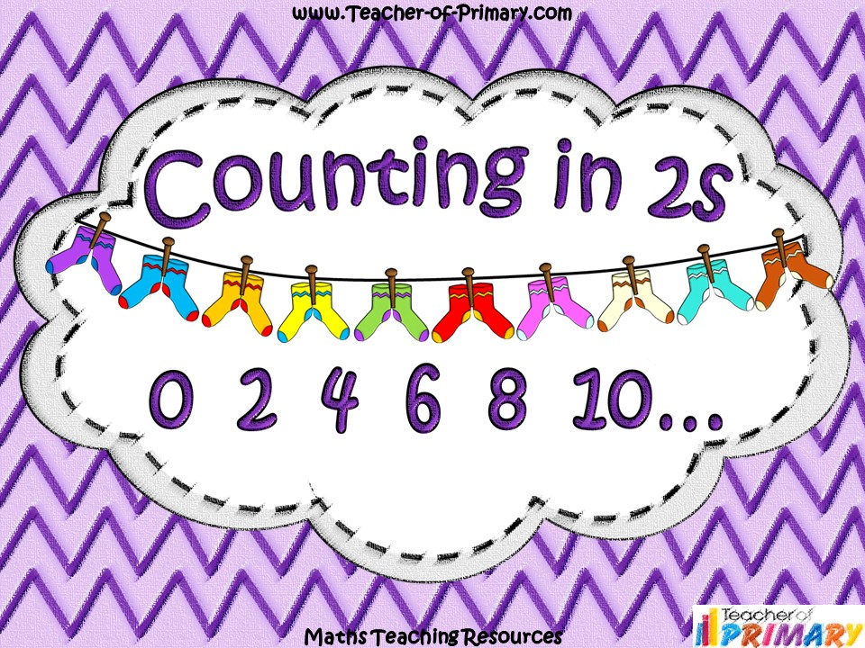Counting in 2s - Socks on the Line