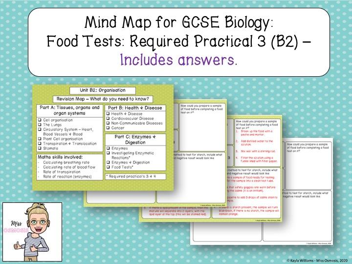 GCSE Biology Revision: Food Tests