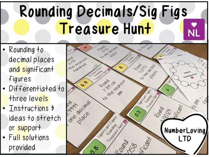 Rounding Significant Figures & Decimals Treasure Hunt