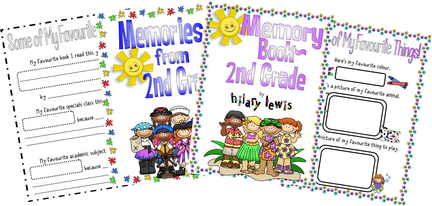 End of the Year Memory Book-Second Grade