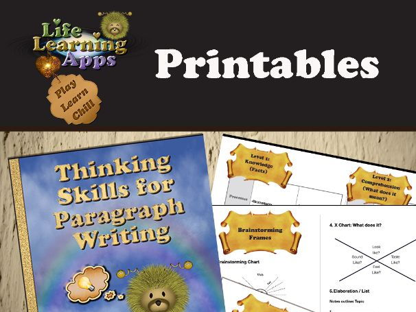 Thinking Skills for Paragraph Writing: Improve your students writing skills