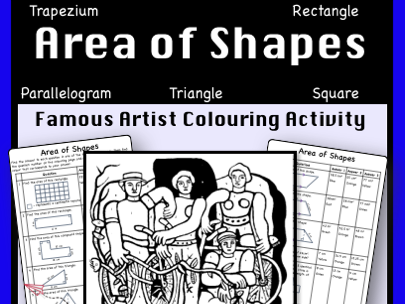 Area of Shapes Review- Colour by Number Activity