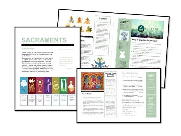 AQA Exam Booklet: Christian Practices: Sacraments