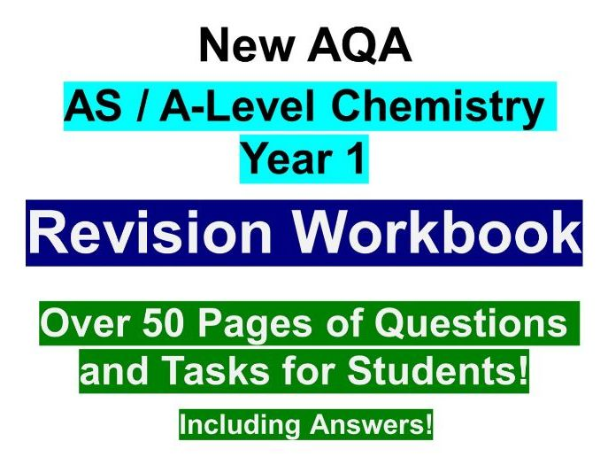 AQA A Level Year 1 (AS) Chemistry Revision Workbook