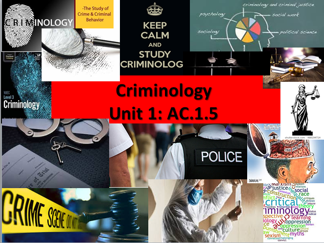 WJEC/Eduqas Criminology Level 3(New Spec) Unit 1 Changing Awareness of Crime-AC1.5 Lesson&Booklet