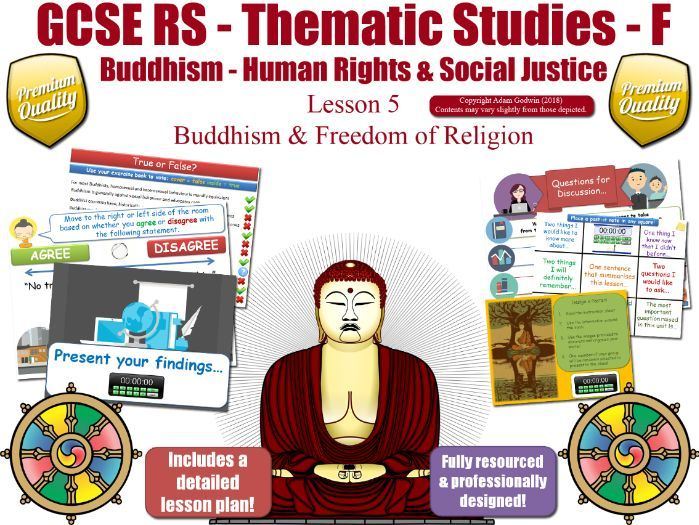 Freedom of Religion - Buddhist Views (GCSE RS - Buddhism - Human Rights & Social Justice) L5/7
