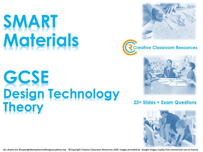 GCSE DT Theory (New Spec) – SMART Materials
