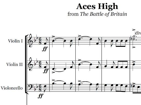 Aces High March (School Orchestra)