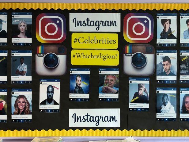 Religious Studies Instagram celebrities full classroom display