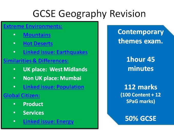 Geography GCSE Revision Guide