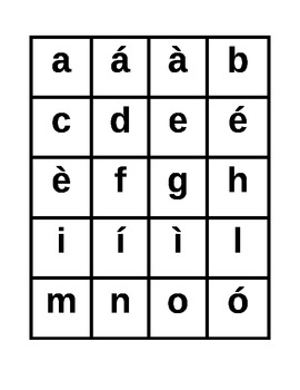 Alphabet in Italian Slap game