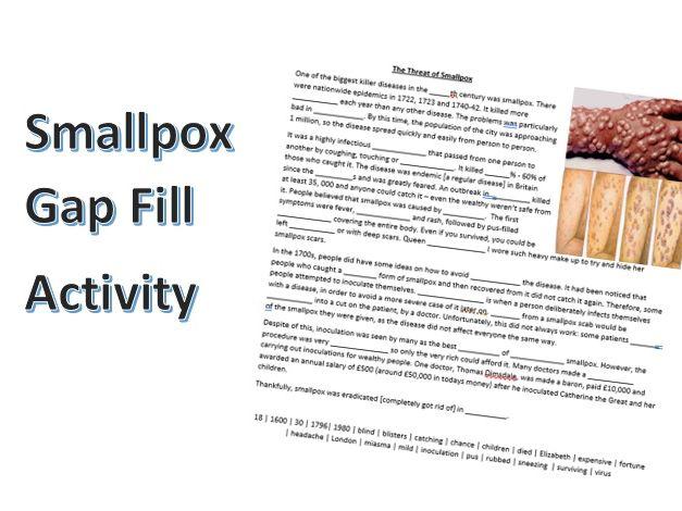 Smallpox Gap Fill Activity