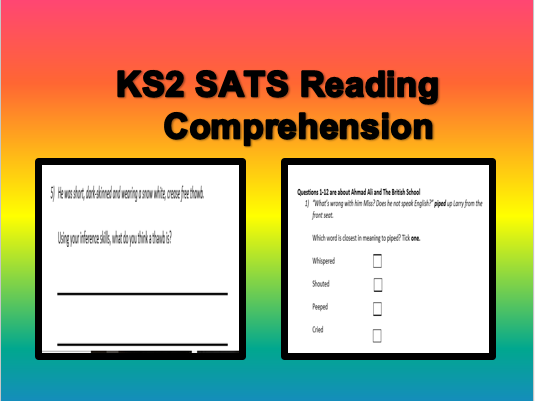 KS2 Year 6 SATS Reading comprehension: SAMPLE