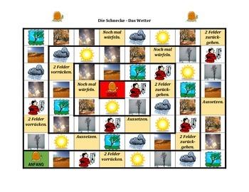 Wetter (Weather in German) Schnecke Snail game