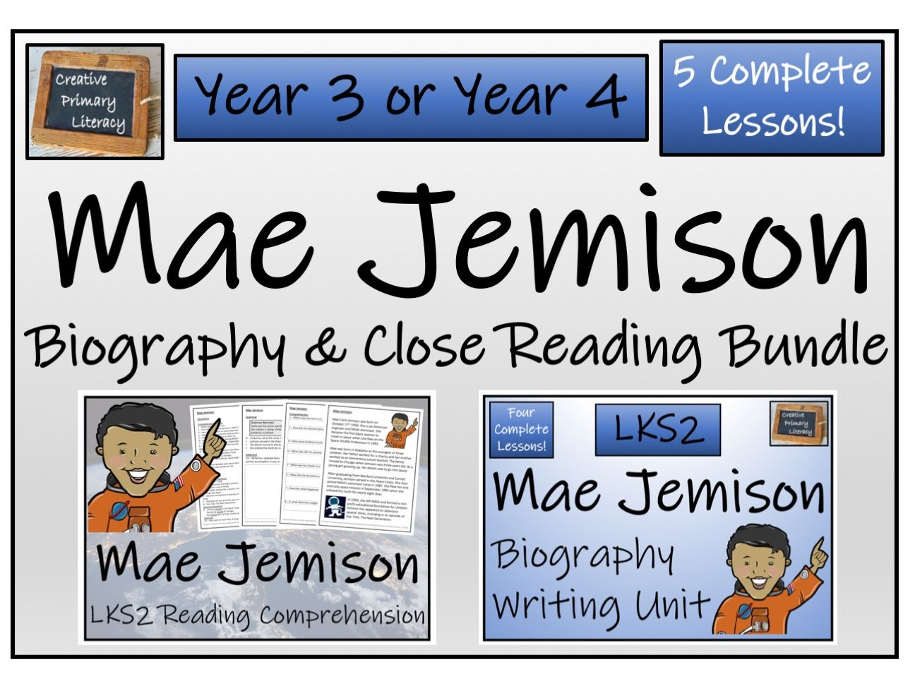 LKS2 Mae Jemison Reading Comprehension & Biography Bundle