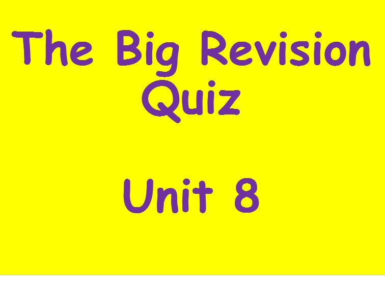 Edexcel Unit 8 Revision Quiz