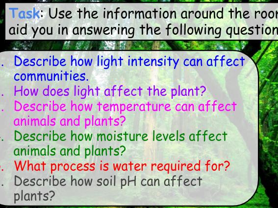 Abiotic and Biotic factors GCSE