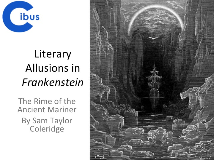 the frankenstein novel and coleridges rime of the ancient mariner essay