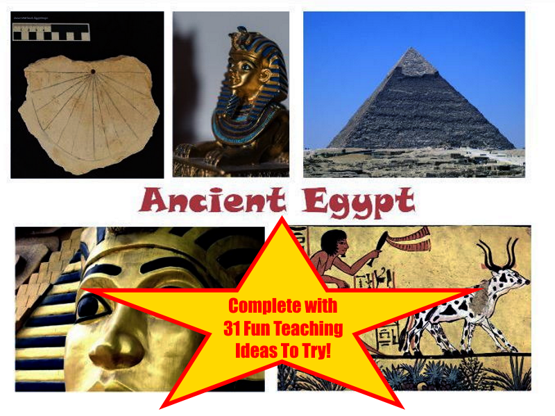 30 Photos Of Ancient Egyptian Artefacts PowerPoint Presentation + 31 Fun Teaching Activities