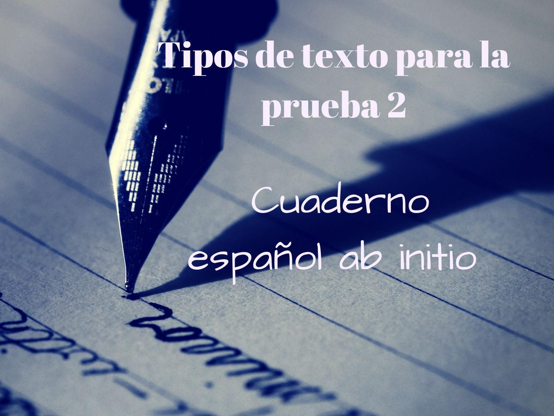 CUADERNO AB INITIO 20 FORMATOS DE EXPRESION ESCRITA PARA LA PRUEBA 2.  AB INITIO 20 WRITING FORMATS (PAPER 2)
