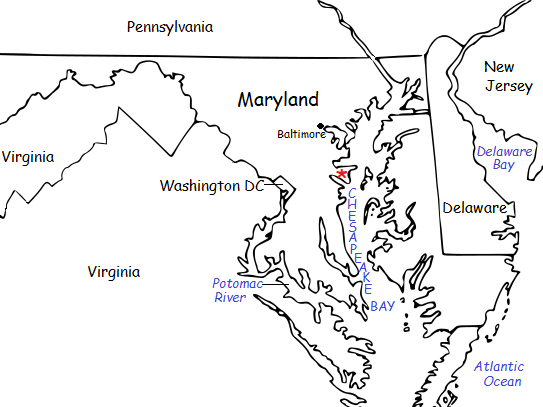 MARYLAND - Introductory Geography Worksheet